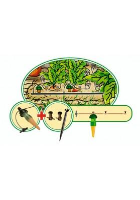 Zestaw automatycznego nawadniania kropelkowego do małej szklarni