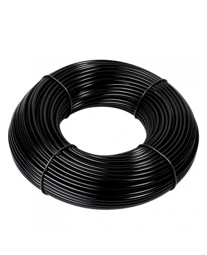 Supply tubing, black, 8mm diameter, price per meter