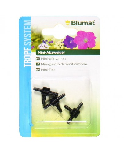 Mini T connector 3-3-3, 3 pieces in blister, Blumat
