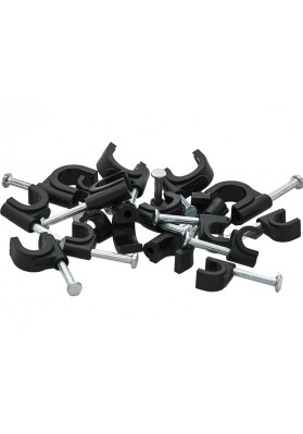 Cable clips 8mm black round